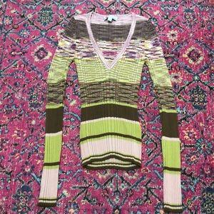 M Missoni space dye knit v neck